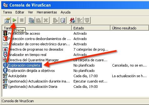 definiciones virus mcafee: