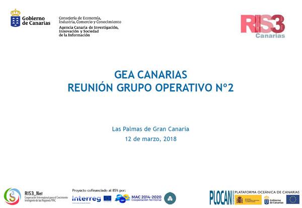 Primera reunión Grupo Operativo nº2 GEA