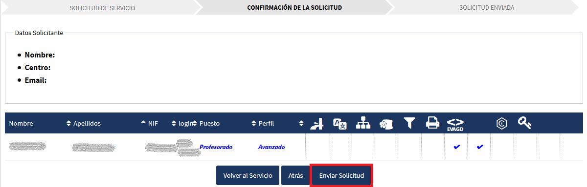 EVAGD Cuentas - Confirmación