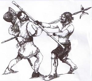 cosquistador y aborigen