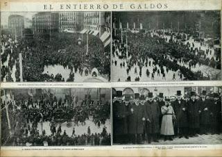 Fotos entierro de Galdós