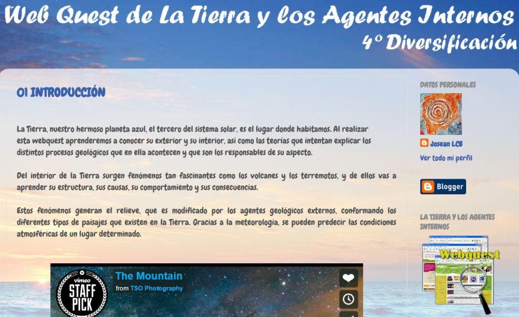 wq La Tierra y Los Agentes Geológicos Internos