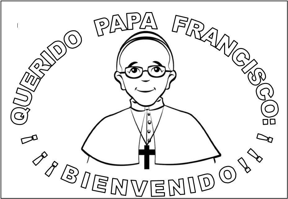 Papa Francisco Para Colorear Blog De Los Recursos De Jesus
