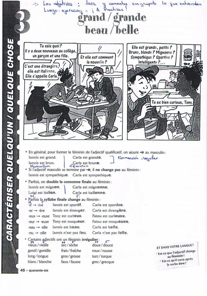 adjectifs Leçon