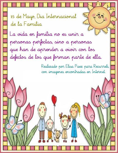 Publicado en 15 DE MAYO DIA FAMILIA | Dejar un comentario