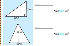 test de reas de triangulos
