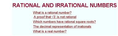 crational and irrational