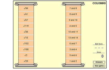 juego columnas raices