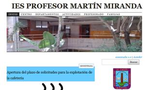 portada web del centro