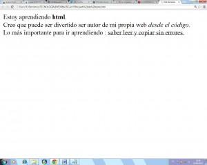 web texto