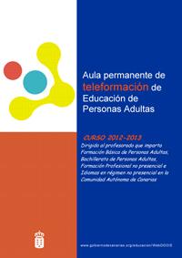 Segunda convocatoria del Aula Permanente de Teleformación de Educación de Personas Adultas.Curso 2012-2013