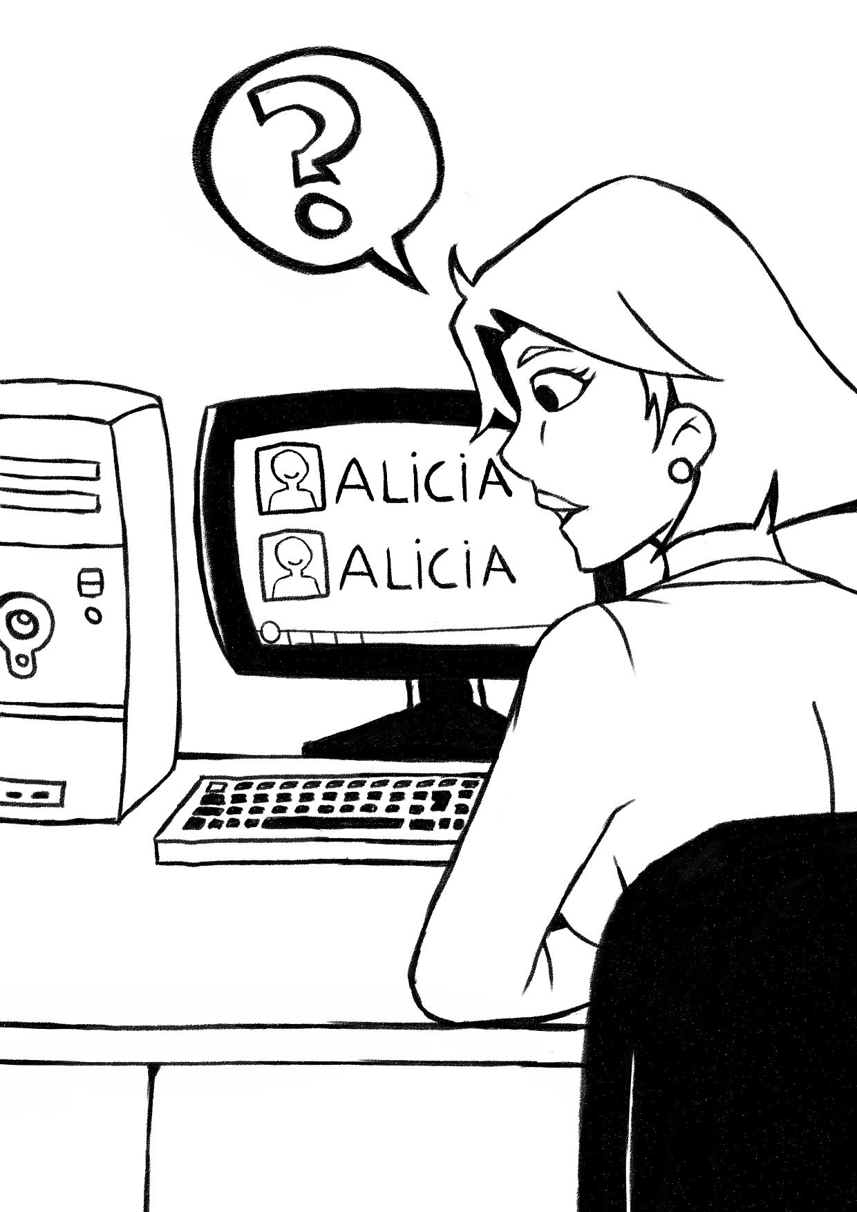 """El día que Alicia descubrió que había """"otra"""" Alicia"""