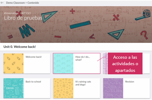 Imagen de acceso a las actividades
