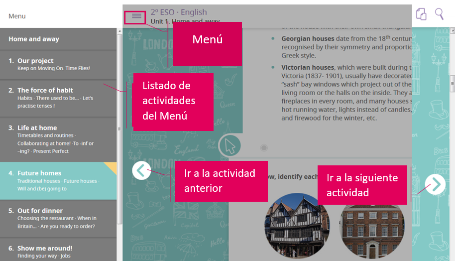 Imagen de la navegación entre actividades