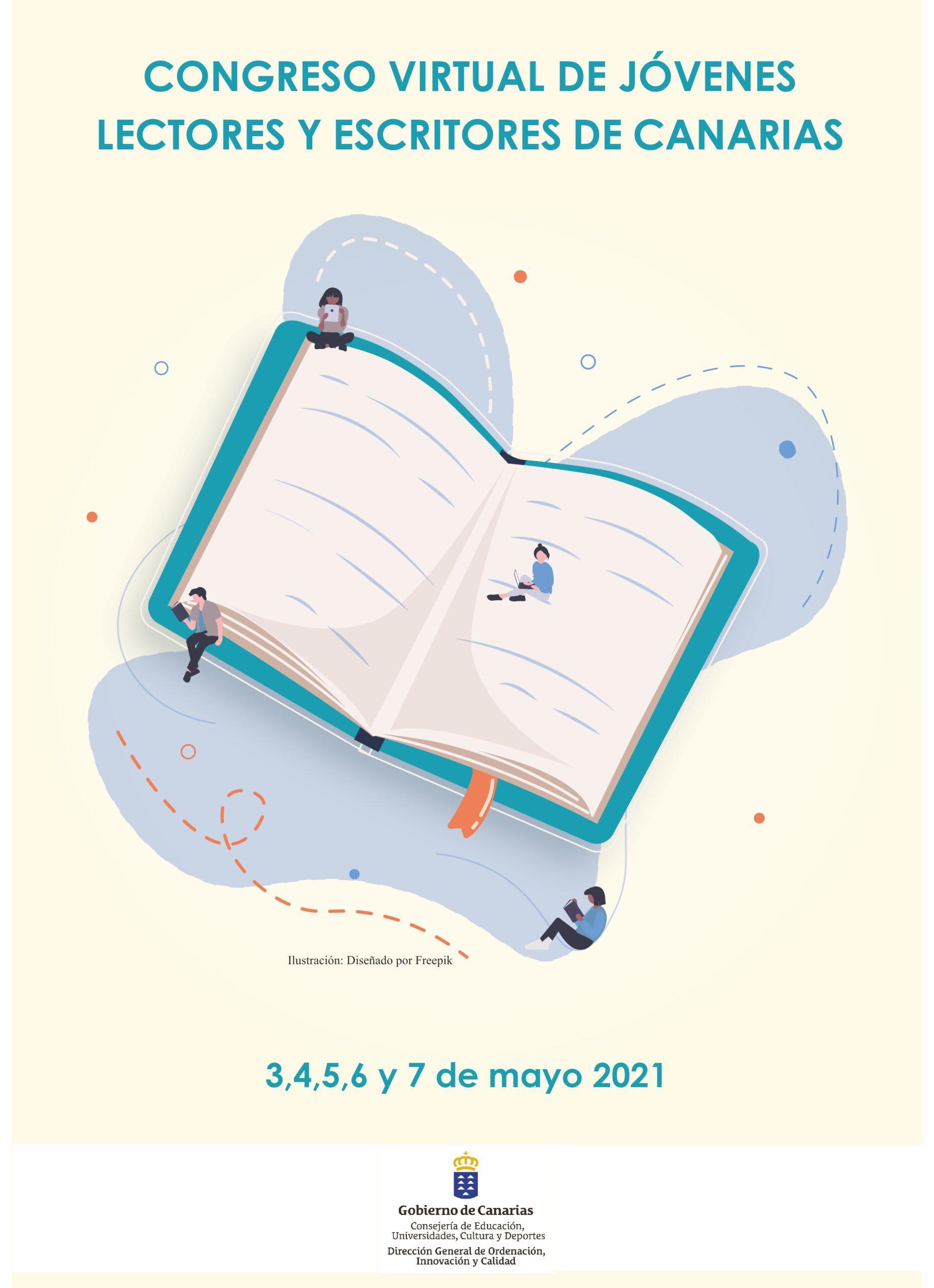 PUBLICADA LA LISTA DE CENTROS ADMITIDOS AL CONGRESO VIRTUAL DE JÓVENES LECTORES Y ESCRITORES DE CANARIAS 2021