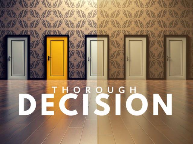 Thorough decision-making for school tutors and counselors