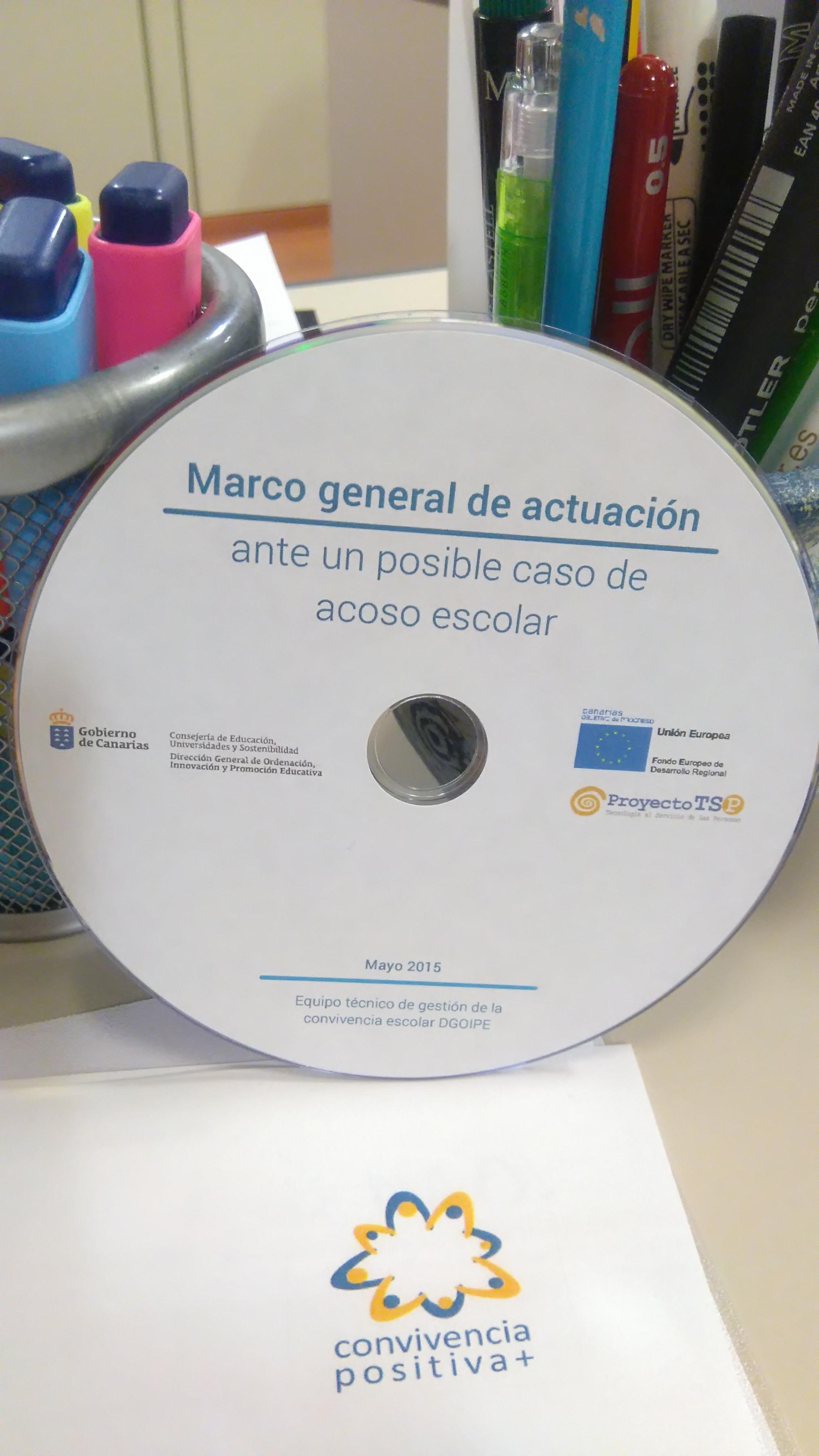 SOPORTE DVD: MARCO GENERAL DE ACTUACIÓN ANTE UN POSIBLE ACOSO ...