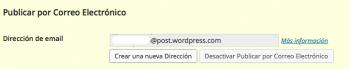 Modificar dirección email