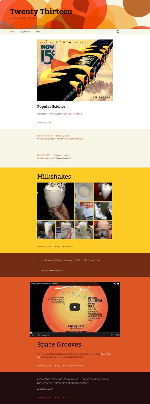 Ejemplo de visualización de colores en formato postal.