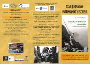 XXVII Jornadas Patrimonio y Escuela_La Aldea de San Nicolás