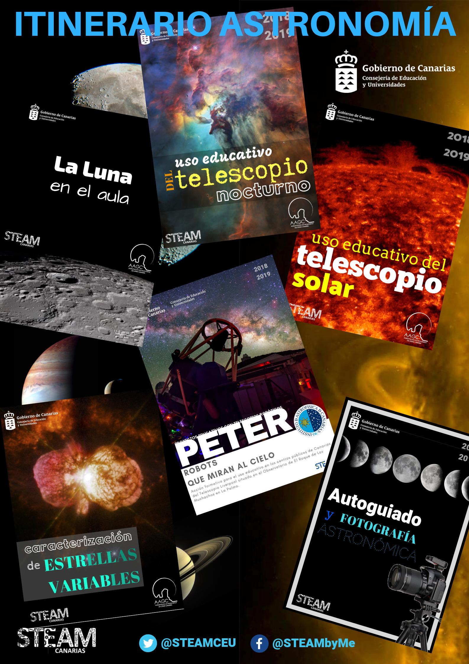 Acciones Formativas de Itinerarios STEAM y de Astronomía