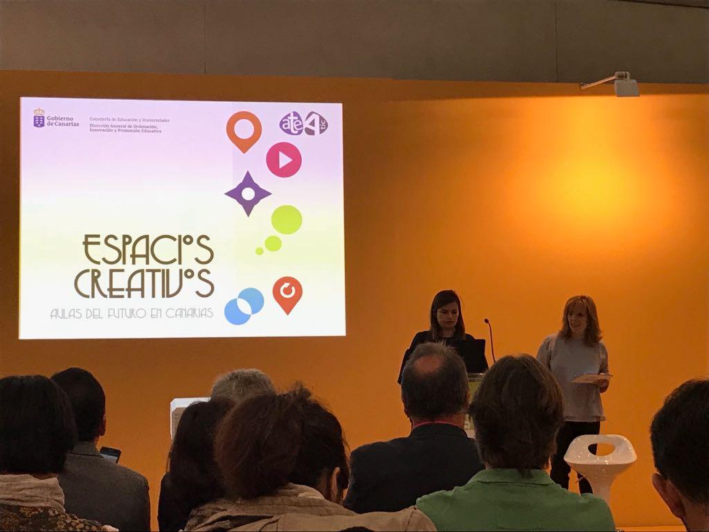 Presentación de los espacios creativos de Canarias en SIMO Educación