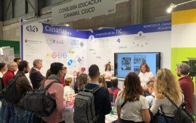 Presentación en SIMO del proyecto «Espacios Creativos. Aulas del Futuro en Canarias», en el estand de la Consejería de Educación, Universidades, Cultura y Deportes.