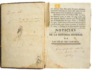 """La Historia General de las Islas Canarias, de Viera y Clavijo, """"ilustrada"""" por Benito Pérez."""