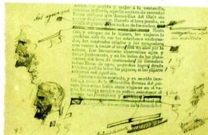 """Una de las páginas de las galeradas """"ilustradas"""" de Fortunata y Jacinta."""