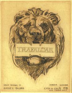 Logotipo de león para los Episodios Nacionales ilustrados.