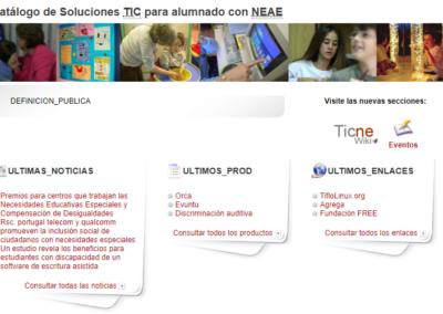 Catálogo de Soluciones TIC para alumnado con NEAE