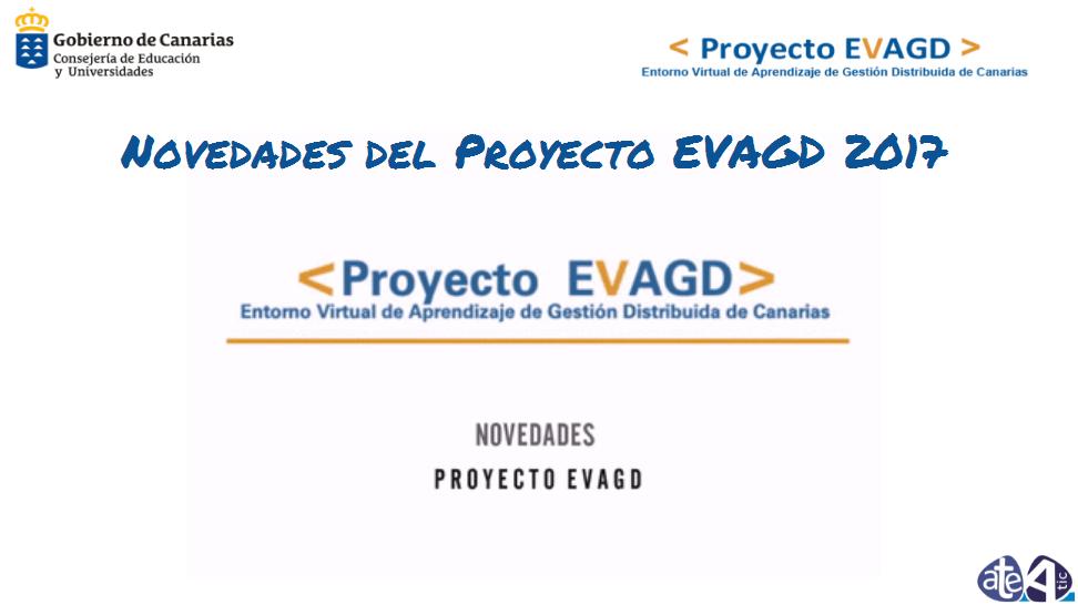 Novedades del Proyecto EVAGD 2017