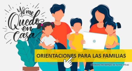 Web para orientaciones para las familias