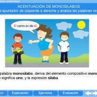 Acentuación de monosílabos. Proyecto Descartes PI