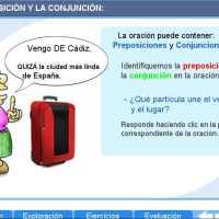 Preposiciones y Conjunciones. Proyecto Descartes PI