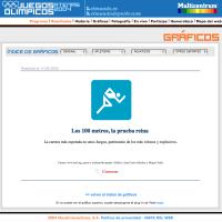 Atletismo: 100metros