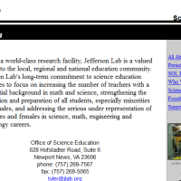 Jefferson Lab. Science education