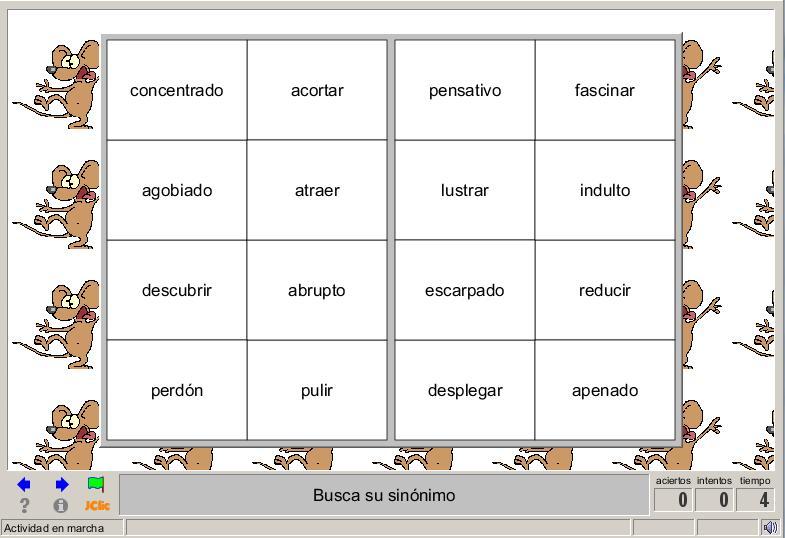 Sinónimos y antónimos » Recursos educativos digitales