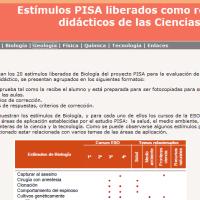 Estímulos PISA liberados de Biología
