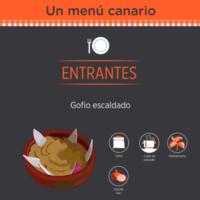 Infografía:  Un menú canario