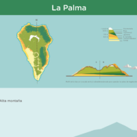 Infografía: Pisos de vegetación de La Palma