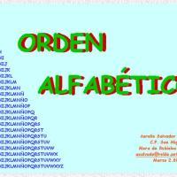 Orden alfabético II
