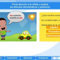 Artículos demostrativos y posesivos. Proyecto Descartes PI