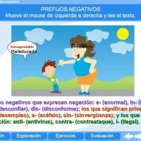Prefijos negativos. Proyecto Descartes PI