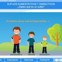 Sufijos aumentativos y disminutivos. Proyecto Descartes PI