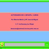 JClic: Actividades para Ed. Infantil 5 años