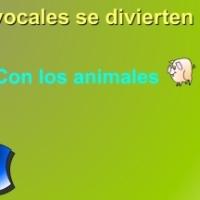 Las vocales se divierten con los animales
