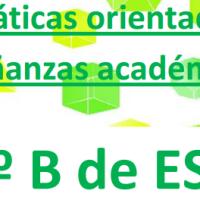Matemáticas orientadas a las enseñanzas académicas. TERCERO B DE ESO DE MATEMÁTICAS