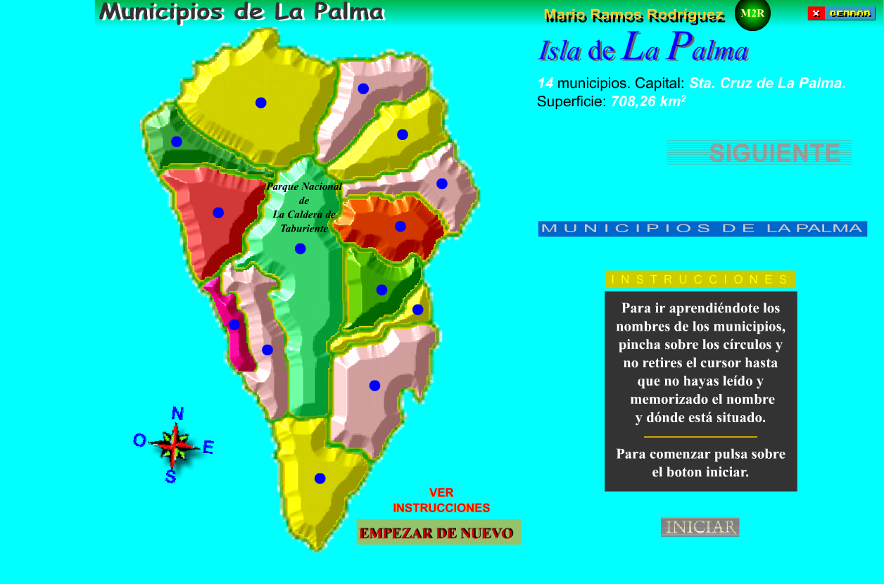 La Palma Mapa Municipios.Municipios Recursos Educativos Digitales