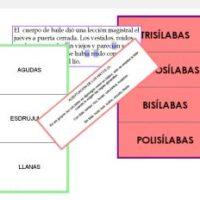 Palabras, sílabas y acentuación